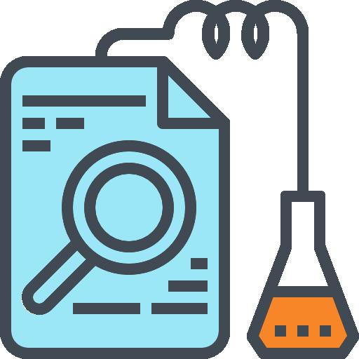 onderzoek doen icoon